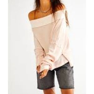We The Free Pink Off Shoulders Top
